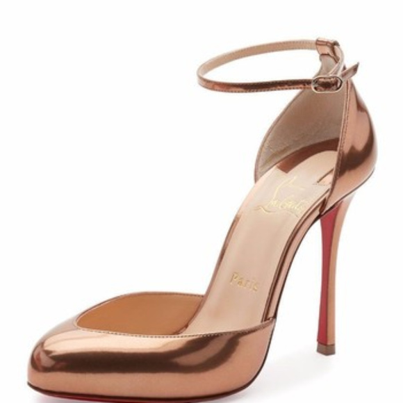 new arrival 9f4c9 192e0 Christian Louboutin Dollyla 100 Bronze heels NWT